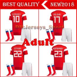 $enCountryForm.capitalKeyWord Canada - 2018 world cup Russia Soccer Jersey full kit with socks men's Home red Football suit Thai Quality Kokorin Dzyuba adult Soccer set uniforms