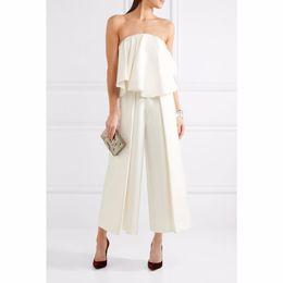 $enCountryForm.capitalKeyWord Australia - 2018 new arriva high quality Jumpsuits Ruffles sexy Jumpsuits white Wholesale B20