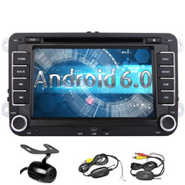 $enCountryForm.capitalKeyWord Australia - Android 6.0 Car Stereo Quad Core Double Din 7'' Touch Screen Car DVD Player for VW In Dash Bluetooth GPS Navigation WiFi