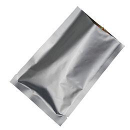 $enCountryForm.capitalKeyWord Australia - 20*30cm 50Pcs Lot Flat Pocket Silver White Pure Aluminum Bag, Mylar Foil Heat Seal Vacuum Pouches Water Proof Food Storage Sack