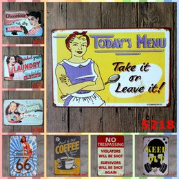 Take picTures online shopping - TAKE IT OR LEAVE IT TODAY S MENU cm Iron Paint Bedroom Wall Picture Decoration Posters Crafts Supplies Home Decor Metal Tin Signs
