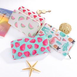 $enCountryForm.capitalKeyWord Canada - Cute Women's Clutch Wallet Long Purse Cartoon Fruit Print OWL Zipper Wallet for Women Ladies Card Holder Fresh Phone Bags Summer