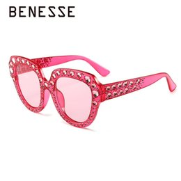 f05393ee16 Square Diamond Sunglasses Women 2018 Crystal Fashion Trend Luxury Brand Big  Frame Mirror UV400 High Quality Sun Glasses Pink Red