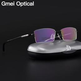 69e0d4b92f02 Pure Titanium Optical Frames Australia - Gmei Optical Ultralight 100% Pure  Titanium Half Rim Glasses