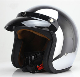 $enCountryForm.capitalKeyWord Australia - open face motorcycle helmet harley vintage motocycle capacete chrome sliver retro casque Mirror pilot jet moto3 4 half open