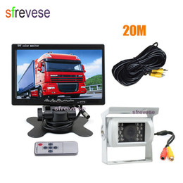 "cable night vision NZ - 7"" LCD Monitor + Waterproof 18 IR Night Vision Car Rear View Kit Reverse Parking Backup Camera 20m Cable for Bus Truck Motorhom"