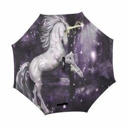 $enCountryForm.capitalKeyWord UK - Cute Unicorn Double Layer Inverted Windproof Reverse Umbrella C-Shape Travel Car Outdoor Men Boy Girl Lady Children