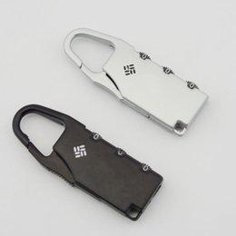Serratura di sicurezza in metallo in lega di zinco Mini Lock Lock Mini alta sicurezza 3 Serrature per armadietto cassetto valigia nero argento 1 4qs B