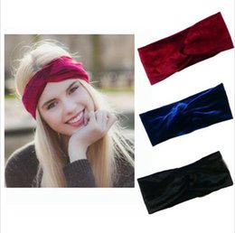 Hair Color Edges Australia - Soft Elastic Turban Headbands Velvet Hair Accessories Headware Color Collision Broad Edge Fashion Popular Portable Head Bands 2 5gy jj