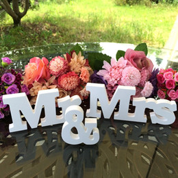 Birthday Decoration Sets NZ - Wedding decorations 3 pcs set Mr & Mrs romantic mariage decor Birthday Party Decorations Pure White letters for wedding