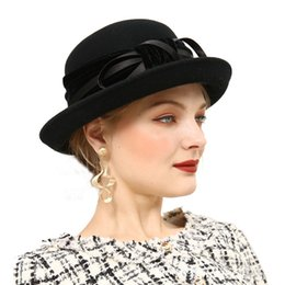 Women Wool Felt Fedora Flowers Hat Ladies Wide Brim Hat Autumn Winter Noble European  American Elegant Girls Fashion Cap M26 5668f51028cf