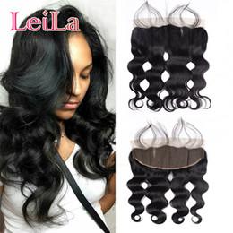 cheap virgin hair closures 2019 - Cheap Lace Closure Frontal Pre Plucked Body Wave Brazilian Virgin Human Hair Closure Lace Frontal 13X4 Closures With Bab