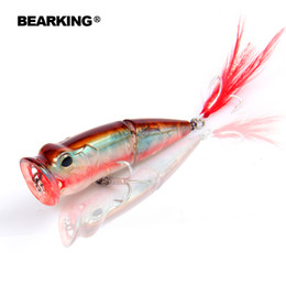 Retail Fishing Lures Australia - 2017 Bearking Hot Model Retail fishing lures,hard bait assorted colors, popper 70mm 11g, Floating topwater baits Y1890402