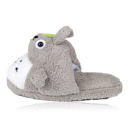 canvas dog shoes UK - Winter Warm Funny Cartoon Dog Woman Slippers Plush Animal Cotton Filling Anti-skid Silent Home Slippers Family Shoes