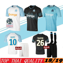 1192d0851 2018-2019 Olympique de Marseille Soccer jersey 18 19 OM Marseille Maillot De  Foot CABELLA PAYET L.GUSTAVO THAUVIN jerseys shirts