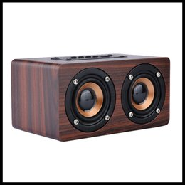 $enCountryForm.capitalKeyWord Australia - W5 Wooden V4.0 Bluetooth Speaker Wireless Dual Bass Stereo Speaker USB Charging HiFi Wood Sound Box TF AUX USB