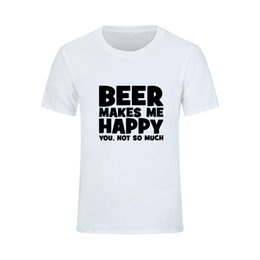 fairy tail prints Australia - Men's T Shirt Printing Beer Makes Me Happy Mens T Shirts O Neck Math T Shirt For Sale For Man Short Sleeve Tee Shirts Fairy Tail