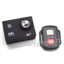 Chinese  50pcs Cheapest 4K Action Camera with Remote Control 1080P Full HD Sport Camera Waterproof DV Retail Package Full Accessories manufacturers