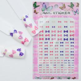 Pattern Decor Australia - LCJ 1 Sheet Nail Art 3D Decal Nail Sliders Decor Tips Bow tie   Flower   Cartoon Animal Pattern Sticker For Beauty Care
