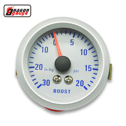 2017 gauge Dragon gauge 52mm Turbo Boost Gauge 20~30 PSI pressure 0-30 INHG VACUUM GAUGE meter Colorful luminous TURBO Mete