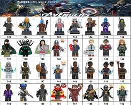 Marvel Blocks Figure Canada - Wholsale Super hero Mini Figures Marvel Avengers DC Justice League Wonder woman Deadpool Batman Thor Loki building blocks kids gifts