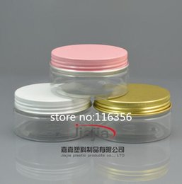 $enCountryForm.capitalKeyWord Australia - Free shipping: 80g PET Can with gold white pink aluminum Lid,Plastic Canning Jar Plastic Can Food Can 80ml container