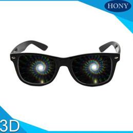 1pcs Premium Spirale Beugung 3D Prisma Raves Brille Kunststoff für Feuerwerk Display zeigt, Regenbogen Gläser Spiralen im Angebot