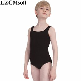 Royal Performance Suits Australia - LZCMsoft Boys Black Tank Leotard Kids Spandex Lycra Ballet Dance Leotards Bodysuits For Gymnastics Dancewear Performance Suits