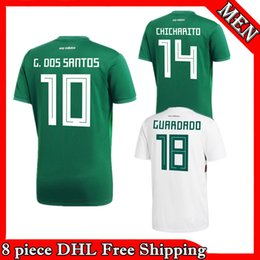 Top quality 2018 Mexico kit national team Adult Mexico Kits Soccer Jerseys  Uniform Men Set 2018 World Cup G.Dos Santos CHICHARITO 6d82a49bf