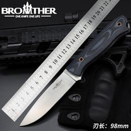 Venta al por mayor de Brother F001 Cuchilla fija Cuchillo recto Táctico Micarta cuchillos Kydex Hunting Survival EDC Tool Collection Promoción de fábrica para la venta