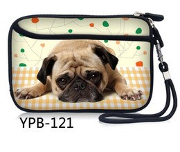 Dog Zipper Australia - Pug Dog Portable Zipper External 2.5 inch HDD Bag Case Pouch Professional for Protection Standard GPS Hard Disk Drive Device