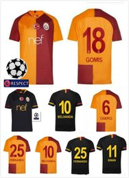 newest 2018 2019 Galatasaray soccer jerseys home away GOMIS Champions  League 2018 2019 CIGERCI BELHANDA FERNANDO FEGHOULI FOOTBALL SHIRTS 45a18c440