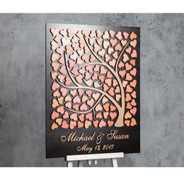 $enCountryForm.capitalKeyWord NZ - Personalized Wedding Guest Book Tree, Custom 3D Guest Book Sign, Rustic Wedding Guest Book With Hearts,Unique Guestbooks