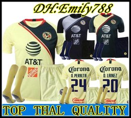 e5c481059 2018 2019 LIGA MX Club America Soccer Jersey MEN KITS O.PERALTA I.RENATO 18  19 Mexico s Goalkeeper Home Away Football Shirt Adult Sets