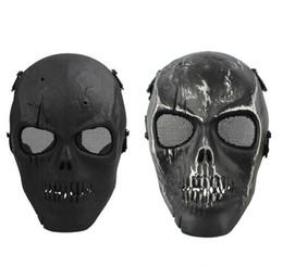 Paintball full face skull mask online shopping - On Sale Army Mesh Full Face Mask Skull Skeleton Airsoft Paintball BB Gun Game Protect Safety Mask Masquerade For Men