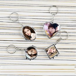 Chains For Mirrors Australia - makeup mirror key chains for sublimation fashion makeup mirror keychains for heat transfer materials new styles DIY blank consumables