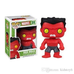 Red Hulk Figures Australia - new arrival Funko Pop Marvel Comics Avengers Red Hulk Bobble Head Vinyl Action Figure with Box #209 Toy Gift