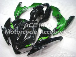Yzf R1 Tank Canada - ACE Motorcycle Fairings For YAMAHA YZF R1 2004 2005 2006 Compression or Injection Bodywork shocking green black +TANK No.1083