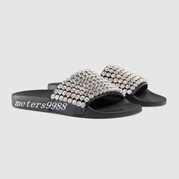 $enCountryForm.capitalKeyWord NZ - mens and womens fashion crystals Embellished Slide sandals slippers boys girls unisex beach scuffs indoor causal flip flops with box