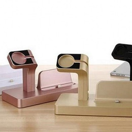 Portable base online shopping - Portable Charging Base For Apple Watch And Iphone Two In One Phones Pedestal Mobile Phone Stand High Quality hx WW