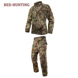 Discount camo army uniform - Army Uniform Men tactical Cargo Pants Bdu Combat Uniform Army Men's Clothing Sets Kryptek Typhon Camo