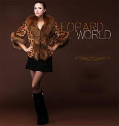 Faux Fur lining womens winter online shopping - New Womens Faux Fur Leopard Warm Coat Ladies Grace Lapel neck Fur Collar Slim Winter Thick Lining Outwear WT18