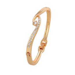 Beautiful luxury girls online shopping - Luxury Wedding Accessory Hot Selling Cuff Bracelet For Girl Zinc Alloy Golden Plated Women s Beautiful Accessory