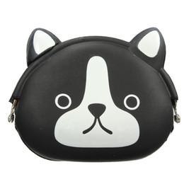 3d5762e4a690 BEAU-Women Girls Wallet Kawaii Cute Cartoon Animal Silicone Jelly Coin Bag  Purse Kids Gift Black dog