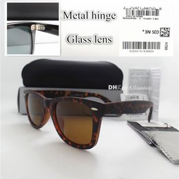 28560bde4d3 AAAAA Quality Glass Lens Metal Hinge Brand Designer Men Women Plank  Sunglasses UV400 52MM 10 Color Vintage Mercury Mirror With Leather Box