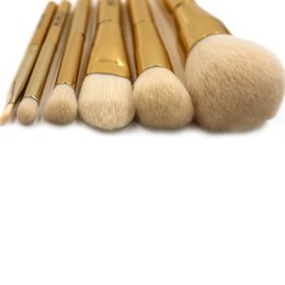 $enCountryForm.capitalKeyWord Australia - Pro Foundation Powder Makeup Brush Set Gold Powder & Blush brush cosmetics make up brushes Horse Hair