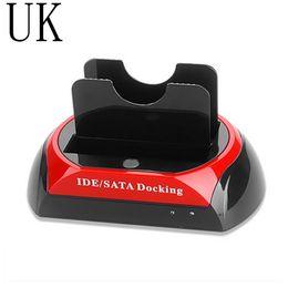 Discount ide hard disk drive - High Speed UK USB 2.0 Hard Disk Base 2.5 Inch 3.5 Inch IDE SATA Dock HUB Dual HDD Hard Drive Disk Docking Station Base