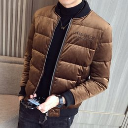 $enCountryForm.capitalKeyWord NZ - Brown Winter Jackets Mens Velvet Parka Mens Winter Coats Grey Erkek Mont Black Bomber Jackets Thick Warm Coats Fashion