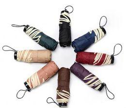Discount umbrella lighted handle - Mini 5-folding Umbrella Sunny and Rainy Advertising Umbrella Printing Logo Light and Convenient Fashion Household Sundri