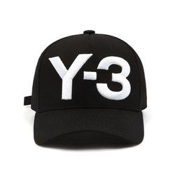 2018 новый стиль 3 цвета случайные бейсболки роскошные унисекс бейсболка для мужчин женщин чистый хлопок мода спортивные шапки Y-3